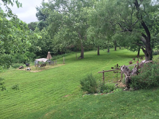 Back yard with Barons Creek