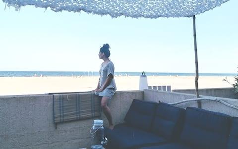 barefoot to beach ;)