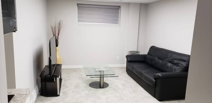 New 2 bedroom basement suite with private entrance