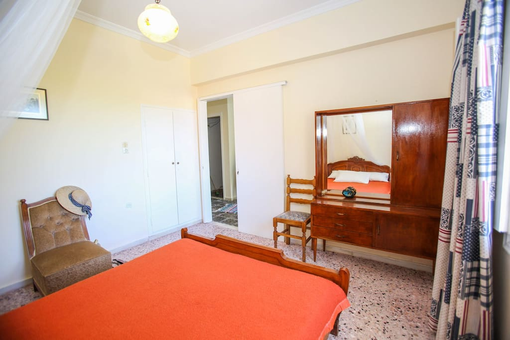 The first double bed bedroom