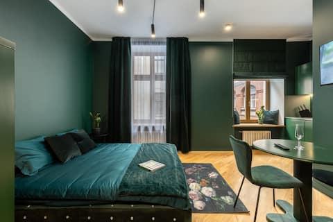 Elegante apartamento tipo estudio en el casco viejo de Riga