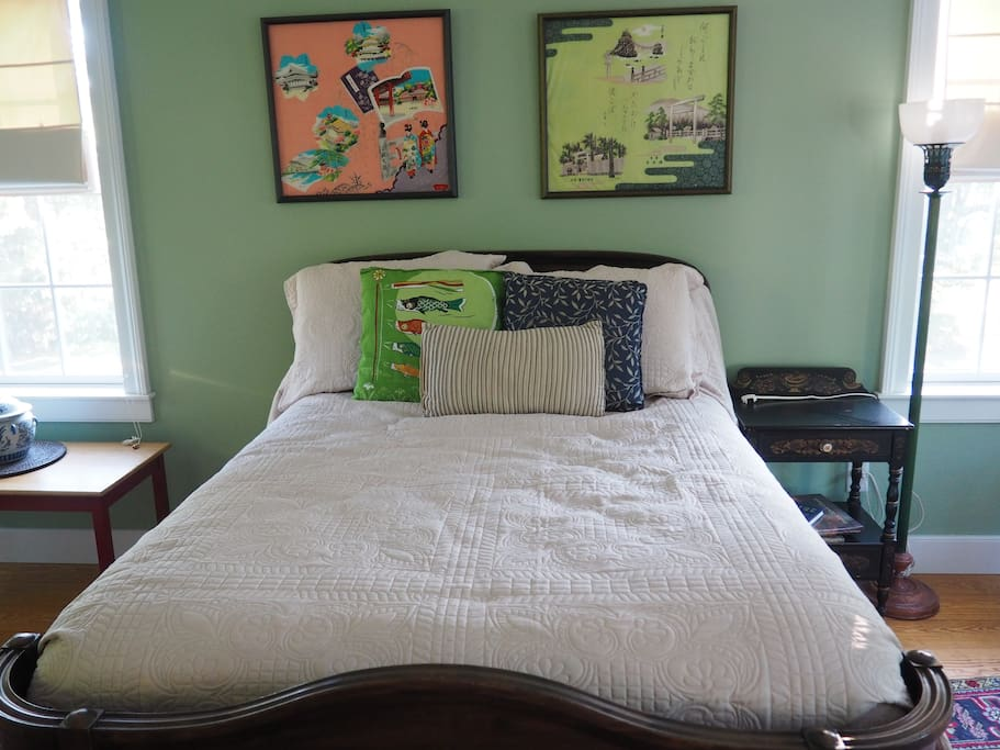Close up of bed