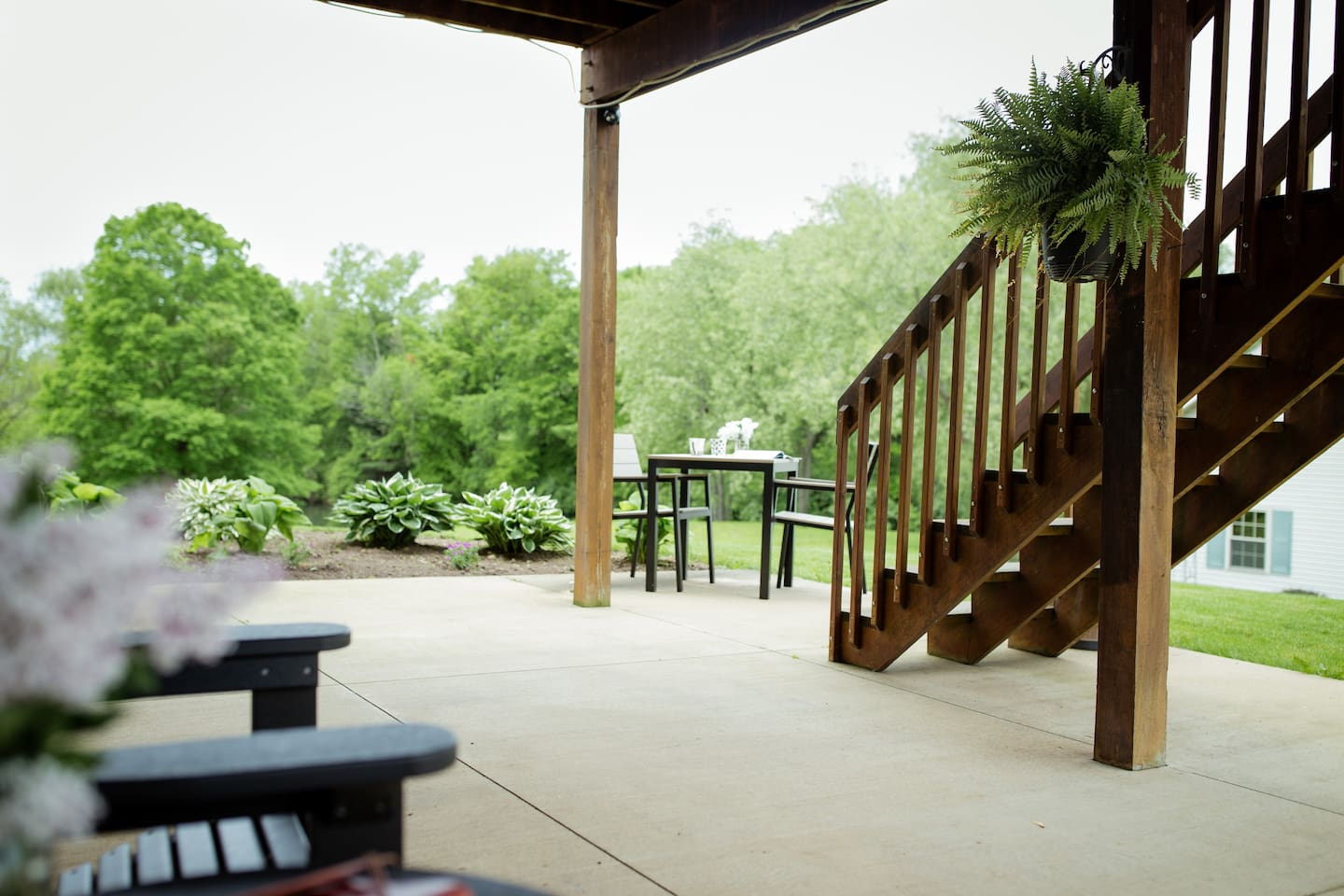 The porch is available for your enjoyment.