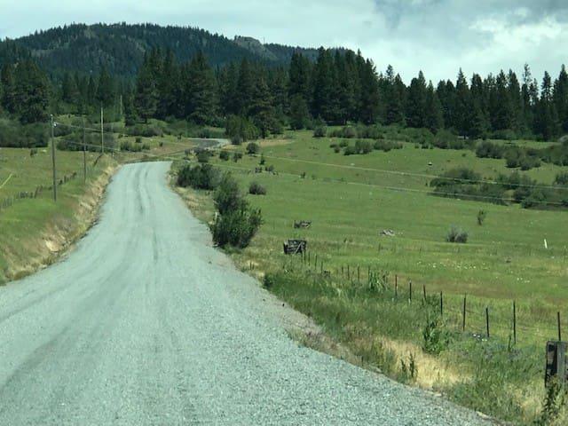 Drive up from La Grande