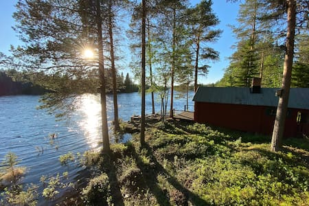 Uniquely located fishing cabin in Hotagsströmmen!