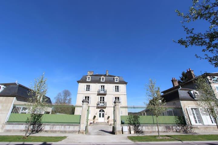 Schitterend kasteel in Bar-sur-Seine bij een rivier