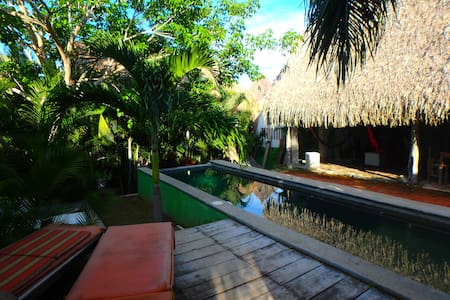 Cool Bungalow/Loft Lucca with pool & hammock area - Sayulita - Loft