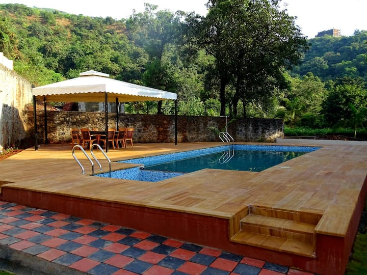 Mountain view 4BHK villa with Private Pool