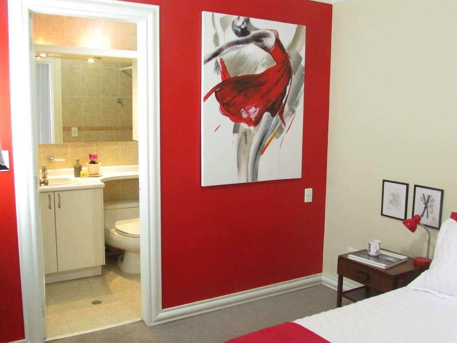 bedroom - bathroom view