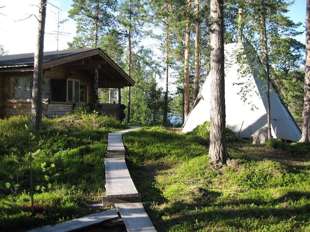 The White Blue Wilderness Lodge - Sommer - Inari - Cabaña