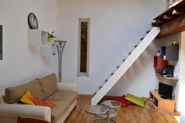 espace salon avec canapé convertible