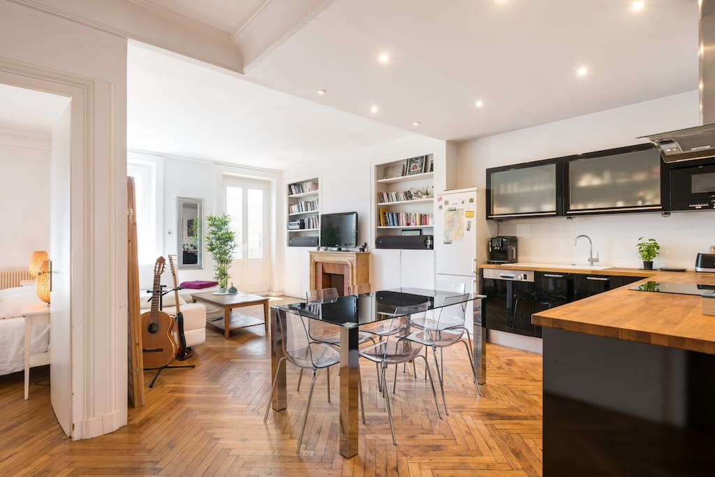 Saxe the city 90m 1 to 8 balcony center for Achat appartement lyon terrasse