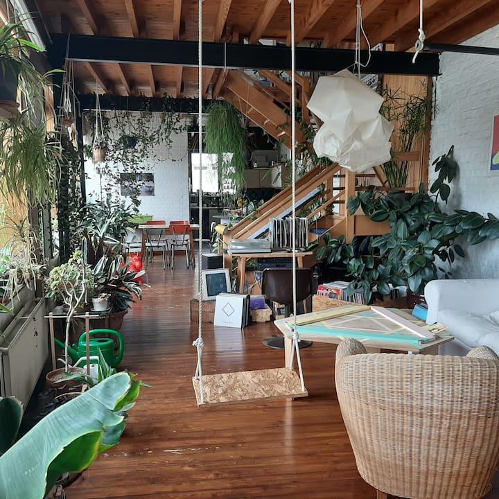 Quiet room in an urban jungle
