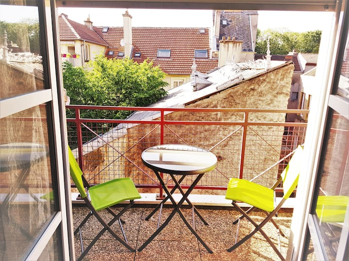 Metz Hypercentre, confort, terrasse, Wifi, parking