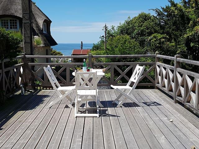 Villa with sea view and garden