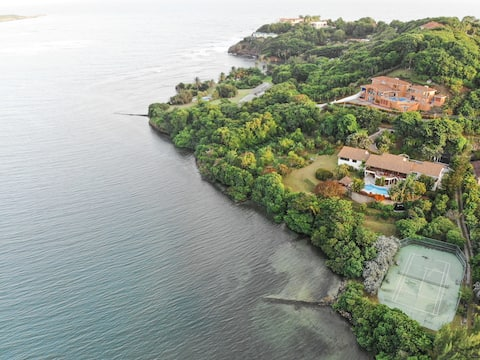 PRIVATE 2-Acre Waterfront Retreat w/ Tennis Court!