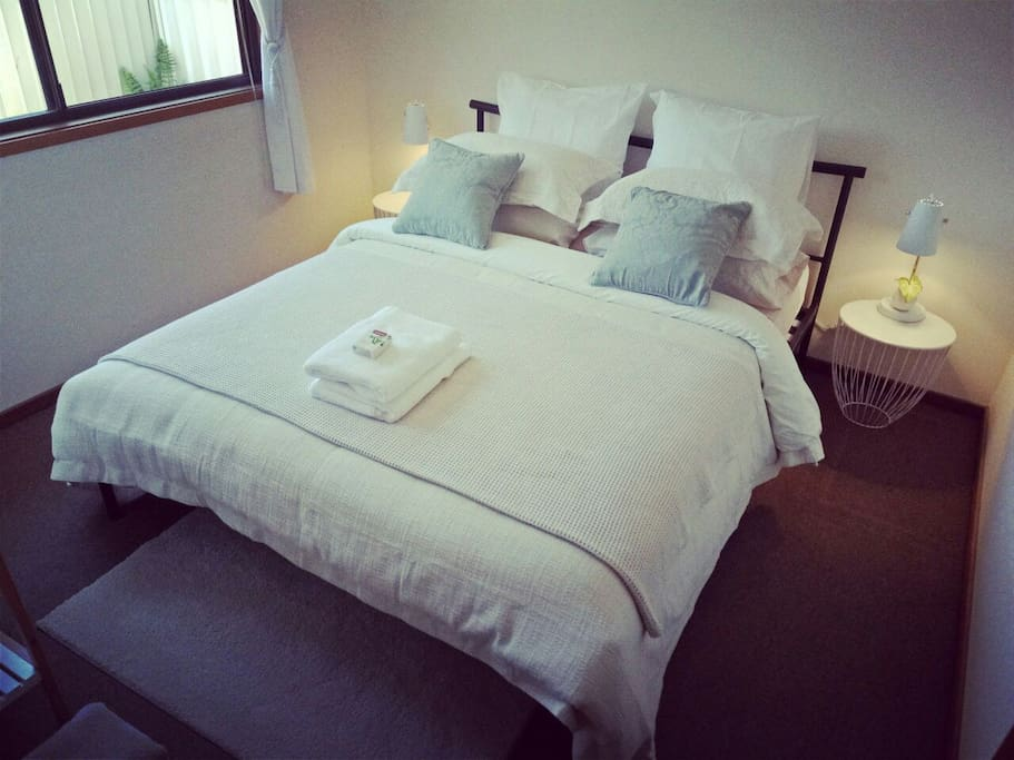 Your room- fit with a very comfortable queen size bed.