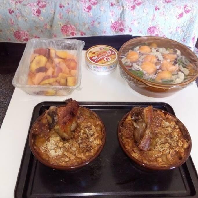repas (cassoulet) sur demande