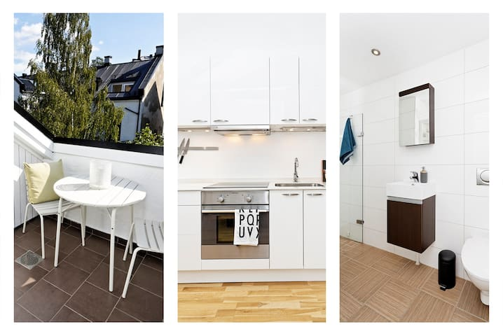 Charming loft with sunny balcony - Oslo - Appartement