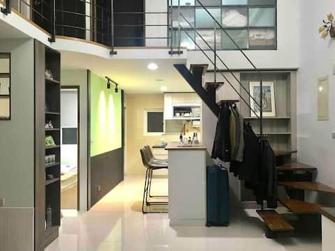 아늑하고 새로운 양면 아파트 (영어 친화적)