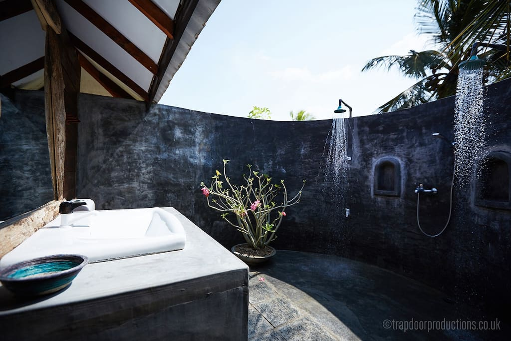 Our open air washrooms in Lagoon side Bungalow