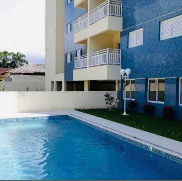 Apartamento novo 500 mts da praia para 6 pessoas