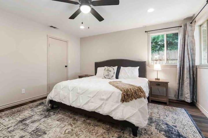 Bedroom 1 with walk-in closet