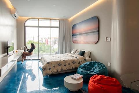 A futuristic space with dynamic interior in Saigon