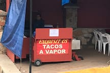 Family Owned Tacos De Vapor/ tacos,soda,water,coffee/ directly across the street