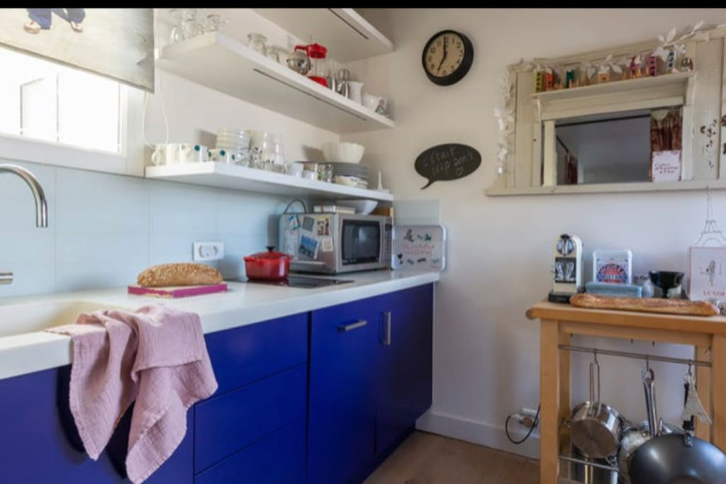 Fully equipped kitchen /cuisine aménagée