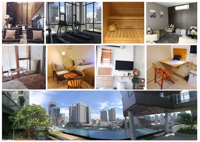 1BED,Asoke,WIFI, 3min Subway, 8 min Airport Link - Bangkok - Apartment