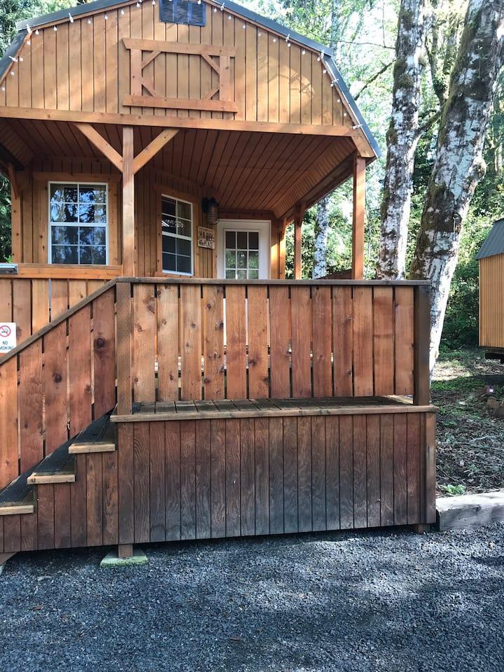Cabin C, the moose lodge @ RV Outdoor Adventures.