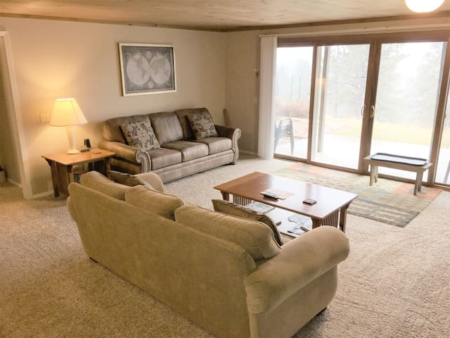 Relax in the Living Room on new comfortable furniture.