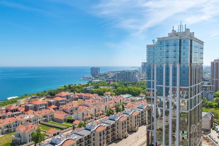 Апартаменты в Аркадии с панорамой моря