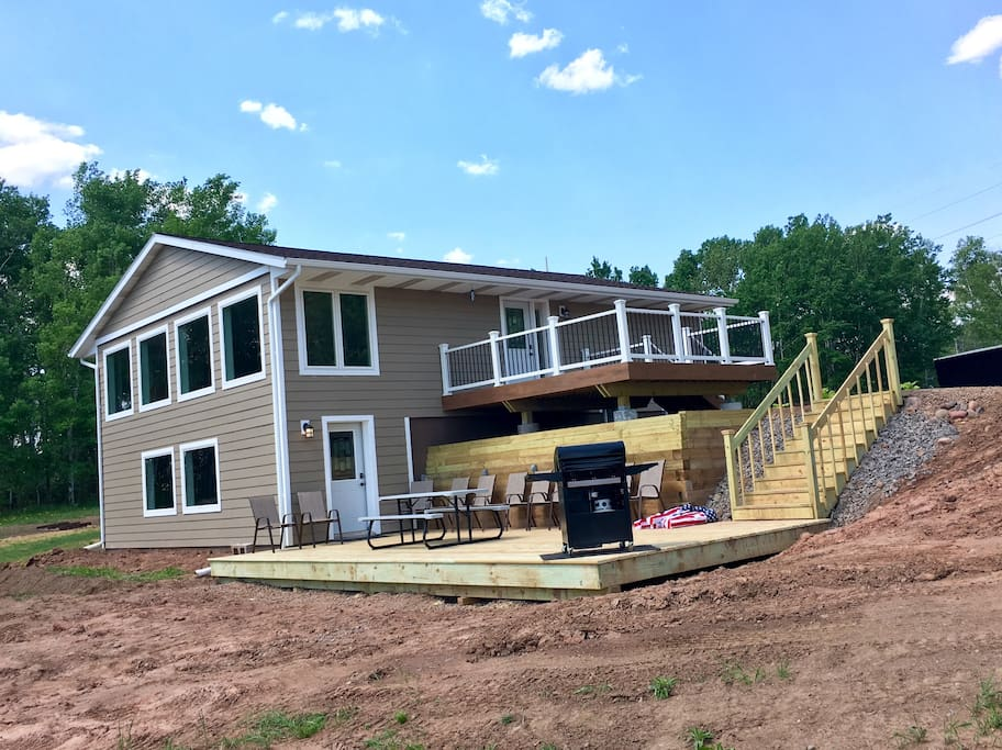 Upper & Lower Deck and front of house / pre-landscaping