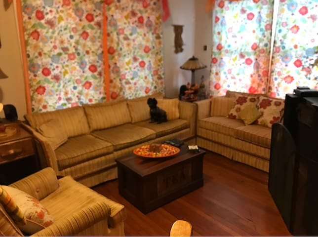 Living room, you can watch t.v. if you like.