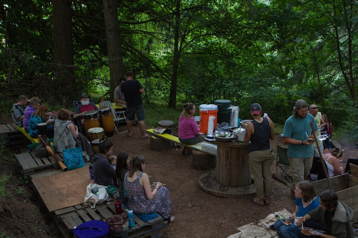 Enjoy Eclipse on Primitive Campsite on Farm