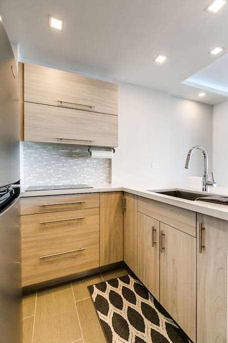 Completely renovated modern kitchen