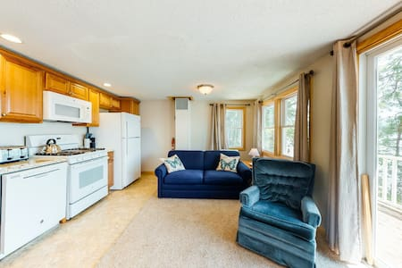 Tranquil, lakefront cottage w/ free WiFi, a gas grill, & a private beach!