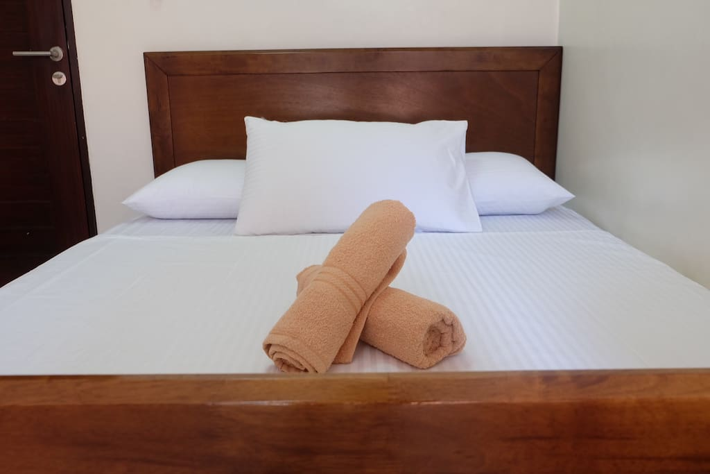 Our Queen bed and hotel quality linens and towels will start off your cozy and comfortable stay!