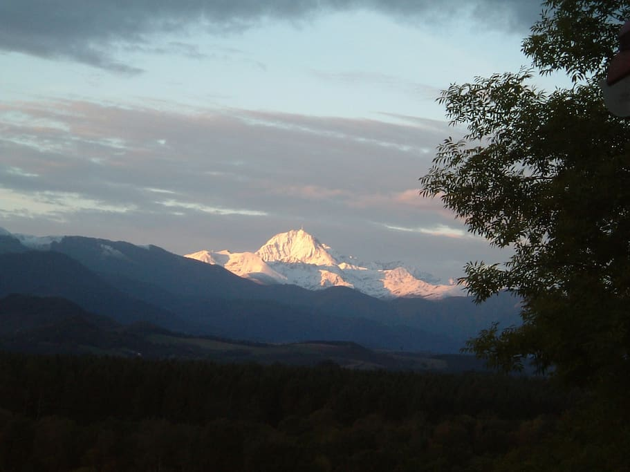 The Pic du Midi from the garden