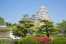 It's Himeji castle You can go from here to Himeji castle without having to transfer.(37min)