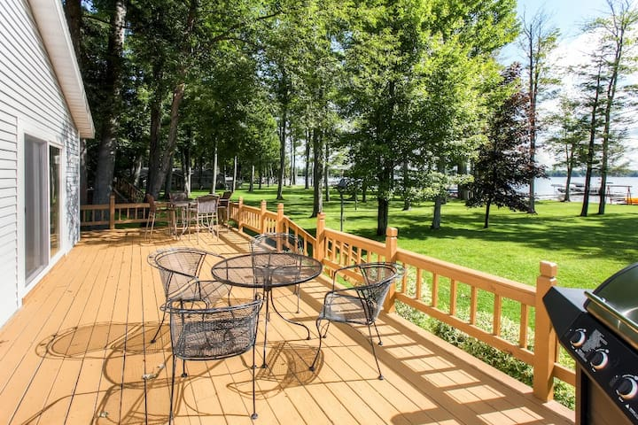 Lakefront 3BR Grayling House w/Spacious Deck