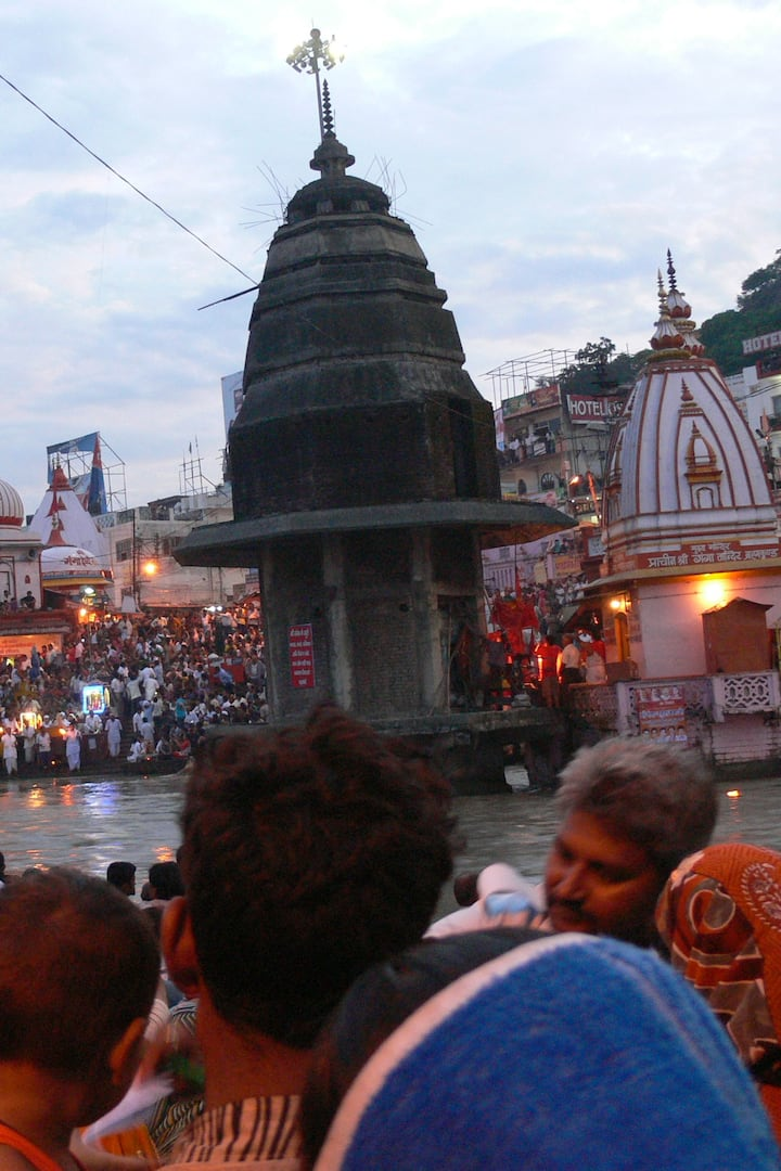 During  Pooja Ceremony  On Bank of Ganga