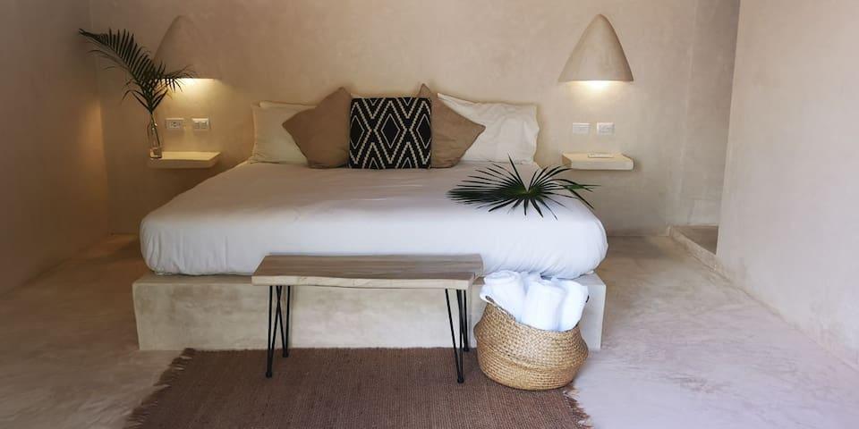 Coco Cabanas Garden Pineapple Room in Tulum Center