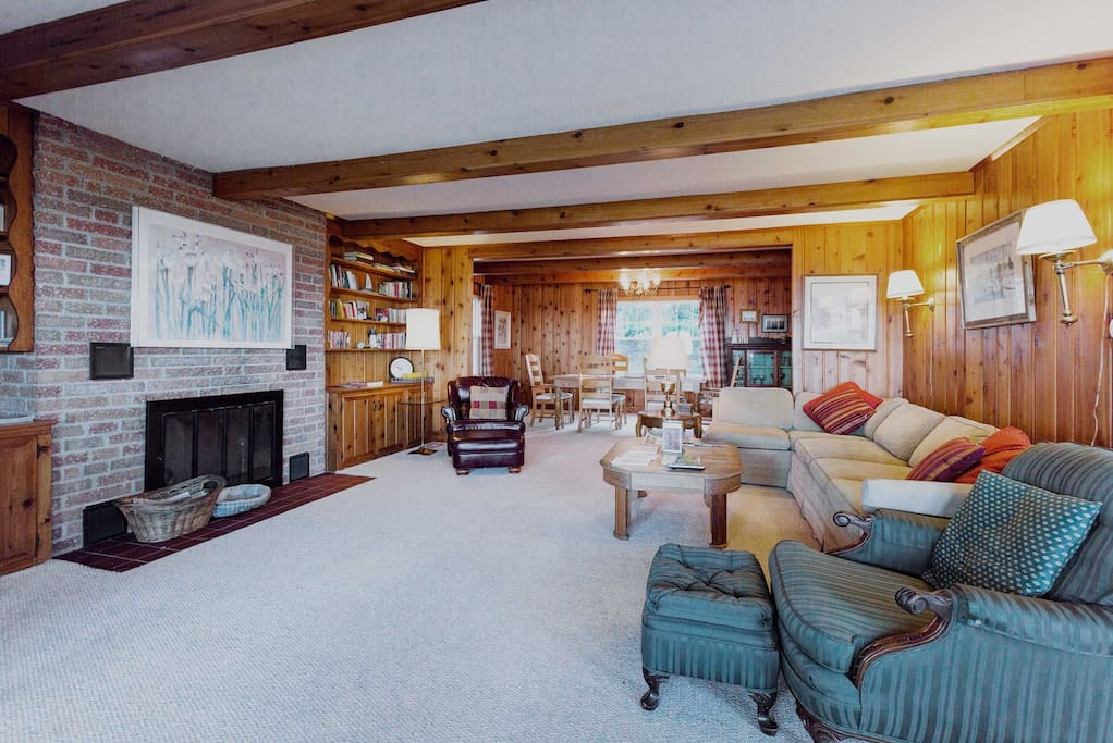 This cottage boasts 1950's classic architecture and a spacious updated interior.