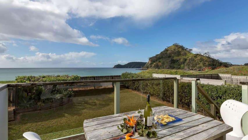Ocean front beach house - Pataua
