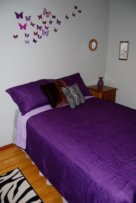 Purple Bedroom Bed