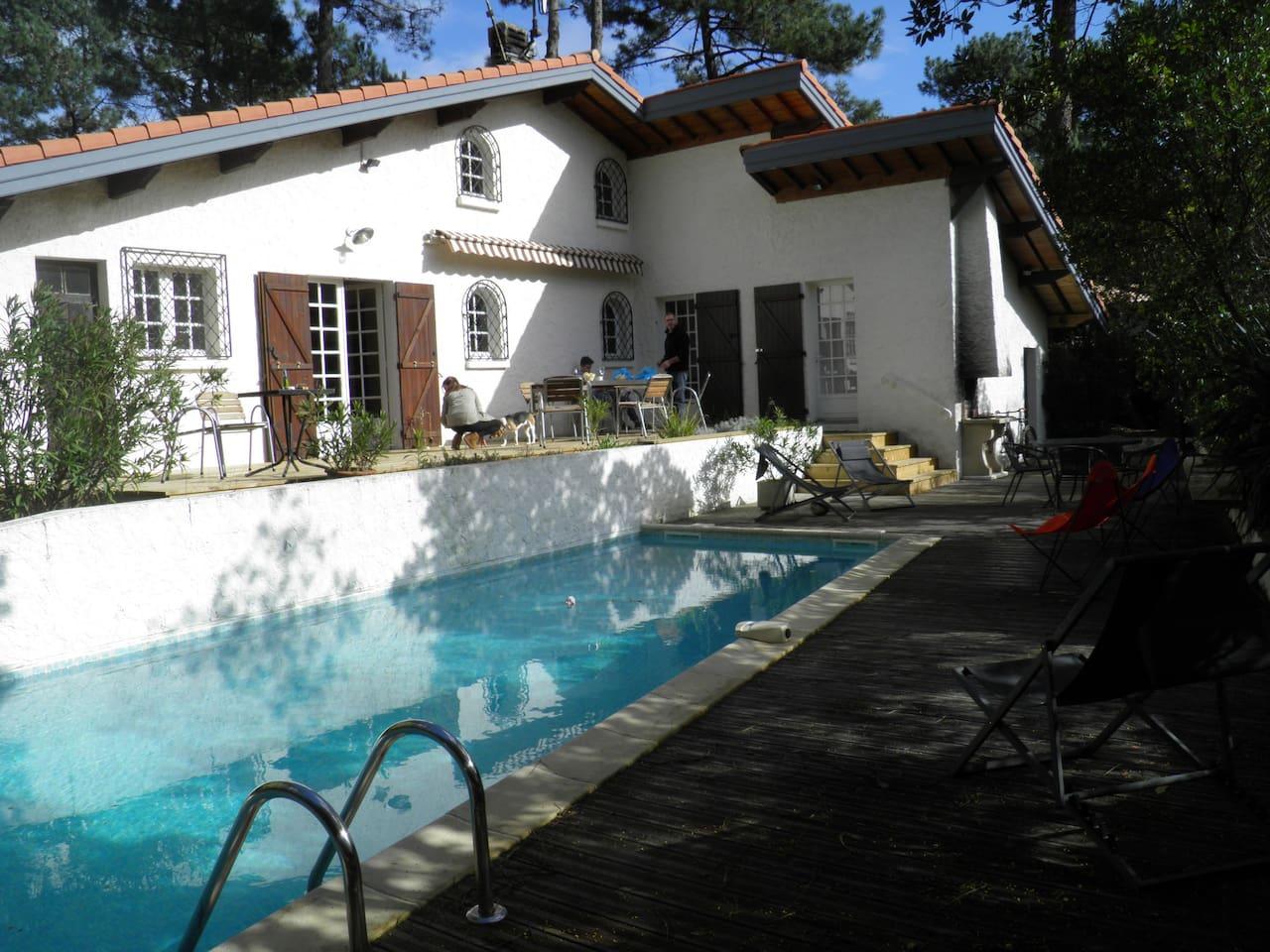 terrasse sud piscine sans vis à vis