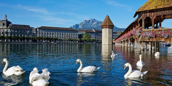 At the gates of the city of Lucerne